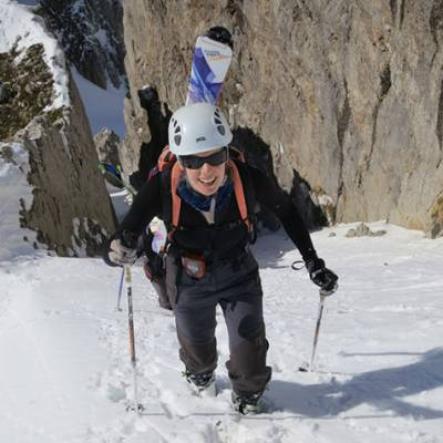 Ski Touring and Mountaineering  cramponing up gull