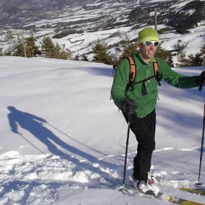 Ski Touring Bernard the guide