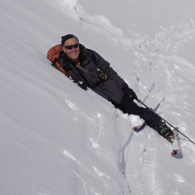 Ski Touring  - a rest in the snow