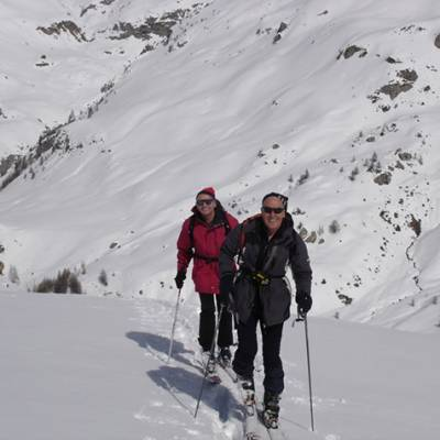 Ski Touring up to the Piolit