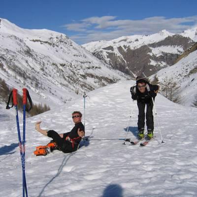 Ski touring - airing the feet
