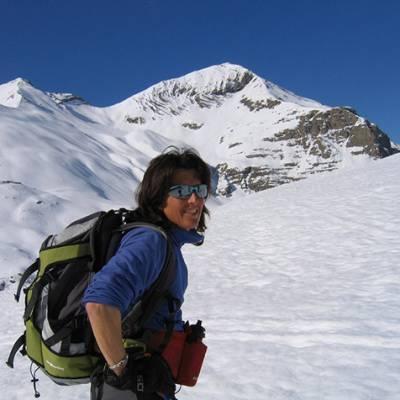 Ski Touring smiling
