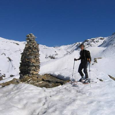 Ski Touring at the first summit