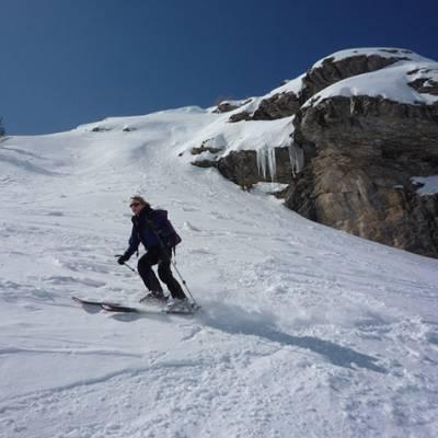 Ski Touring descent