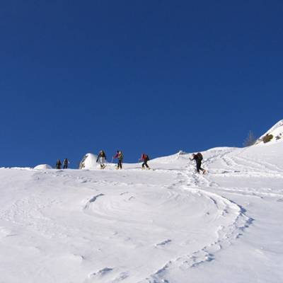 Ski Touring towards La Palastre