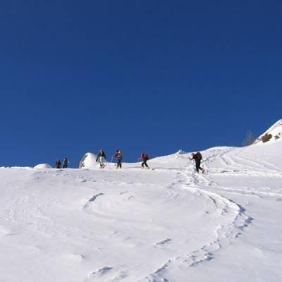 Ski Touring towards La Palastre