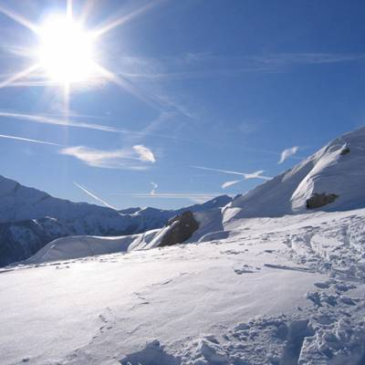 Ski Touring magnificent view