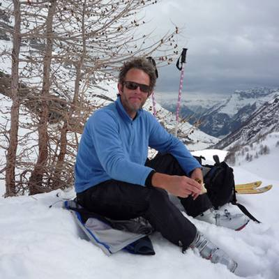 Ski touring lunch stop
