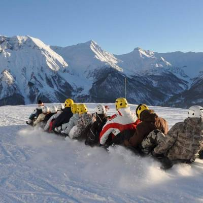 Snake Sledge in the Alps