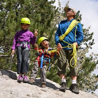 Rock Climbing kids thumbs up