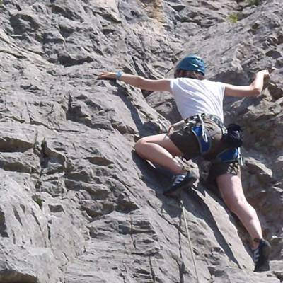 Rock Climbing climber close up on rock