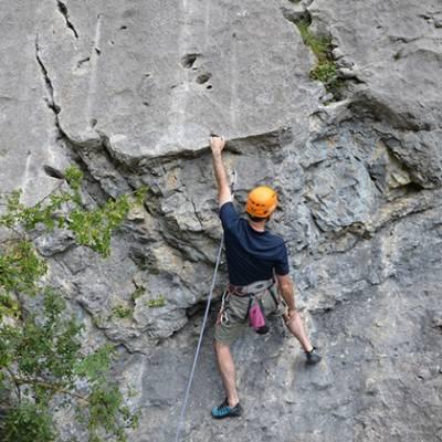 Rock Climbing crux move