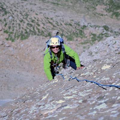 Rock Climbing in the Ubaye Sally