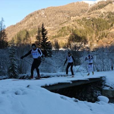 TRans Champsaurin cross country ski race over the