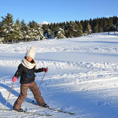Cross Country Ski Girl learning to cross country s