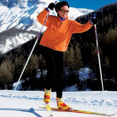 cross country skiing - lady skating