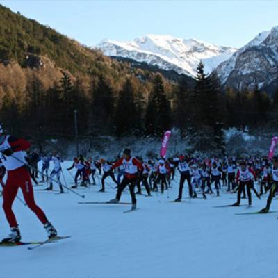 Cross Country ski TransChampsaurin race