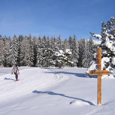 Cross Country ski pistes at Col Bayard