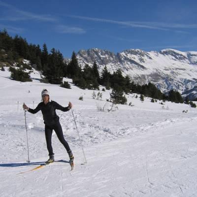 Cross country skiing in Devoluy