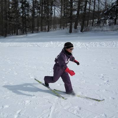 Cross Country skiing kids racing