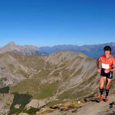 Trail Running in the Alps mountains
