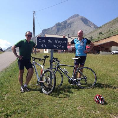 Col du Noyer in the Alps road cycling