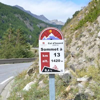 road cycling signs on major circuits