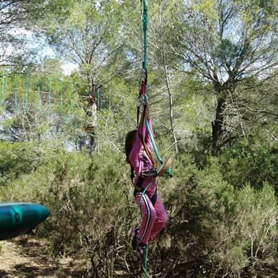 High Ropes Adventure tarzan swing