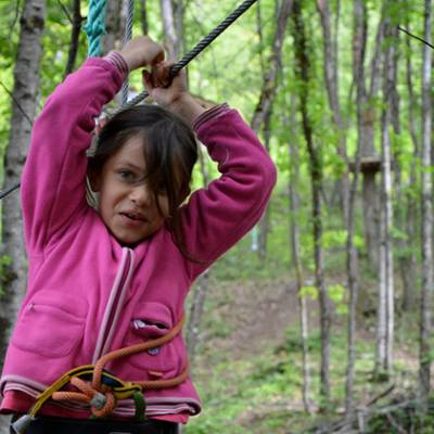 High Ropes Adventure zip lining