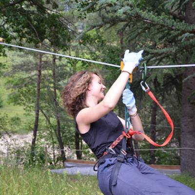 High Ropes Adventure on the tyrolean