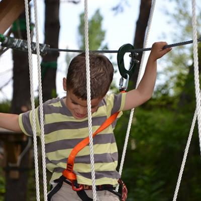 High Ropes Adventure young child