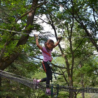 High Ropes Adventure in the French Alps