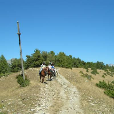 Horse Riding at the top of le croix de St philippe