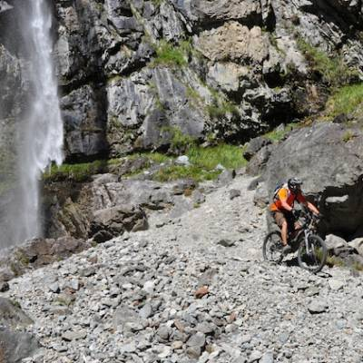 mountain biking waterfalls