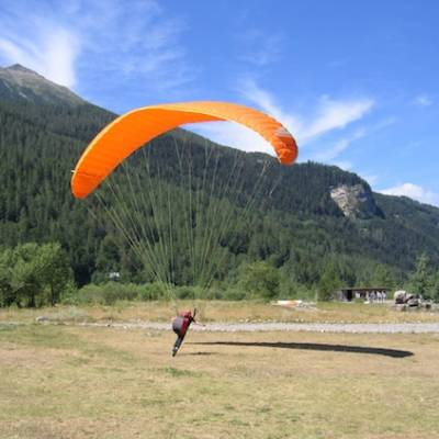 Paragliding in the Alps