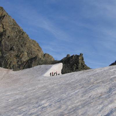 Mountaineering Les Rouies in the ecrins