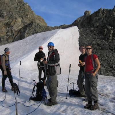 Mountaineering - Les Rouies in the Ecrins on glaci