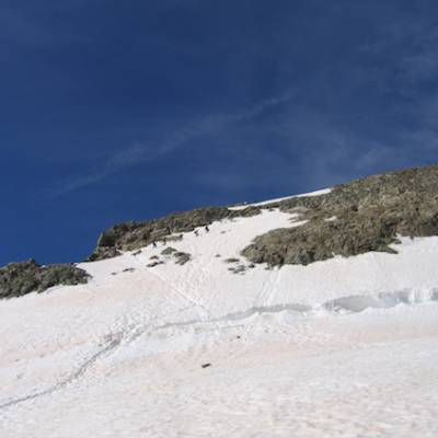 Mountaineering - Les Rouies approaching the summit