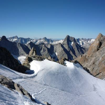 Mountaineering view from Le Rateau