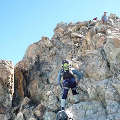 Mountaineering climbing Le Rateau