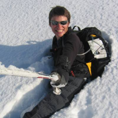 Snowshoeing - falling in the snow