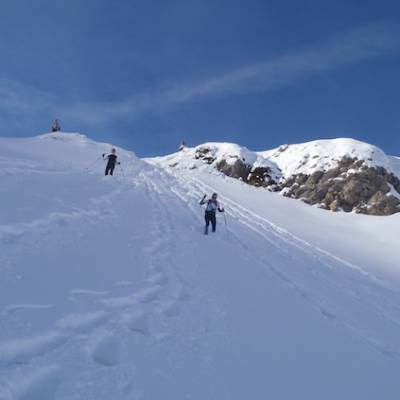 Snowshoeing into the winter wilderness