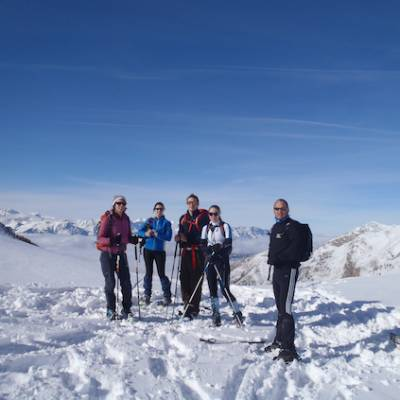 Snowshoeing on the Col Pourchierre