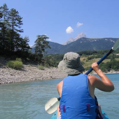 Kayaking - Lac du Sautet in the Alps