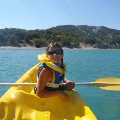 Lake Kayaking on the Lac du Serre Poncon girl in k