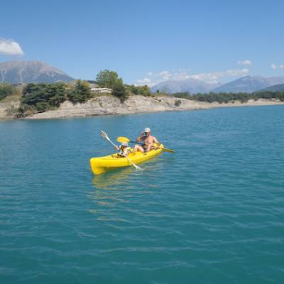 Lake Kayaking on the Lac du Serre Poncon yellow ka