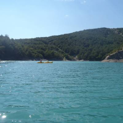 Lake Kayaking on the Lac du Serre Poncon - view
