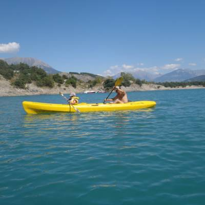 Lake Kayaking on the Lac du Serre Poncon - yellow