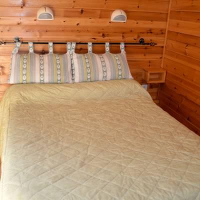 Chamois Hotel double bedroom