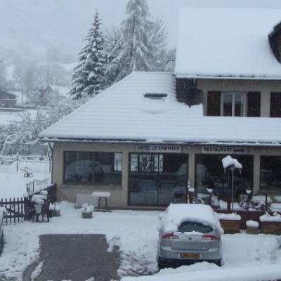 Chamois Hotel in winter